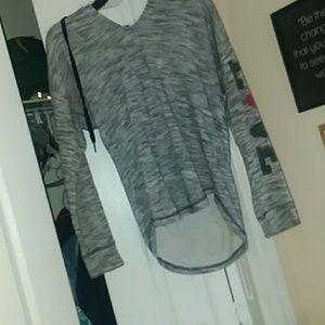 grey love hoodie